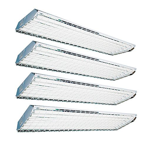Value Pack of High Bay 6 Lamp Powder Coated White T8 Fluorescent Fixture