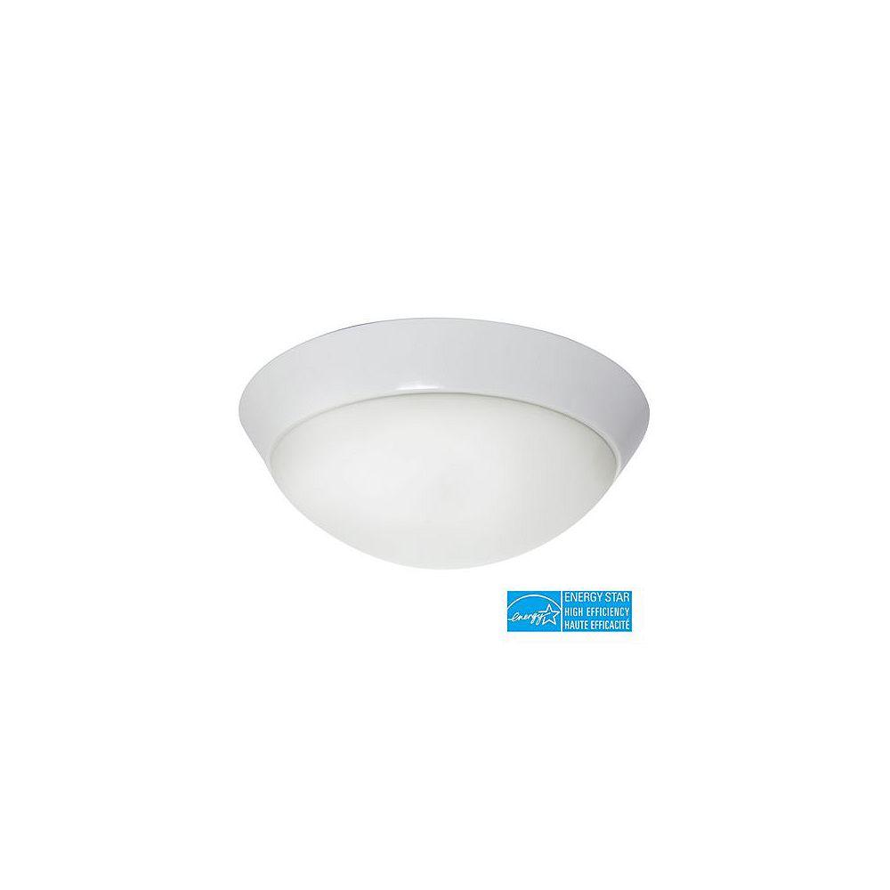 Efficient Lighting Contemporain encastré dans enduit de poudre de finition blanc