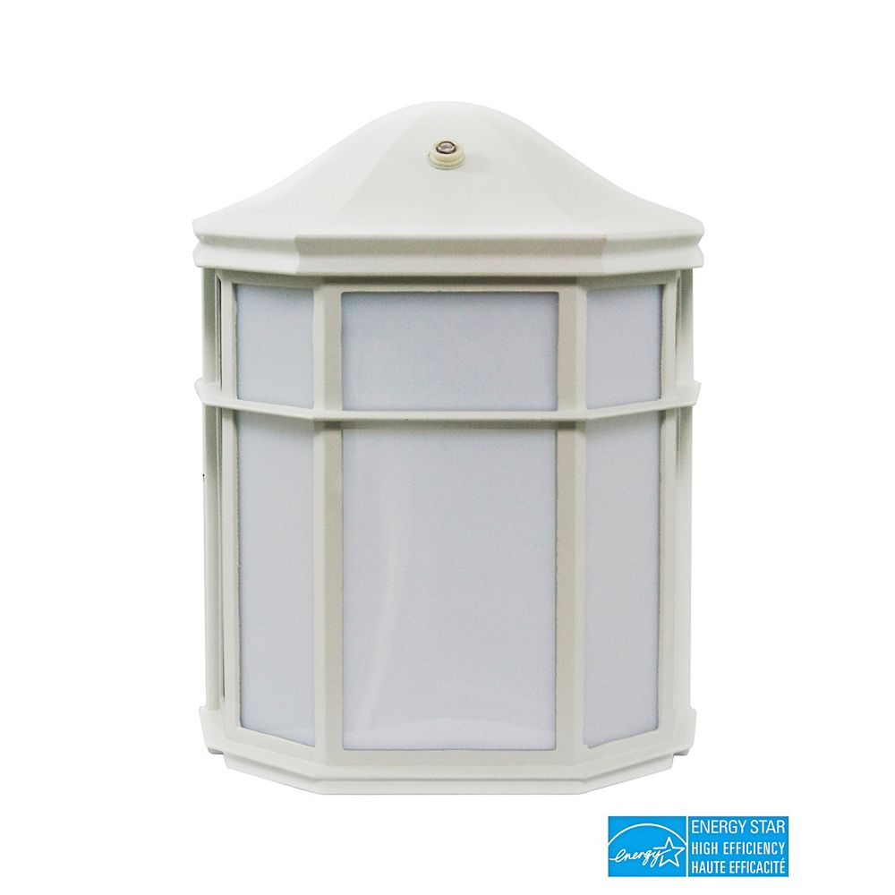 Efficient Lighting Timeless Outdoor Wall Sconce, Die Cast Aluminum in Powder Coated White Finish