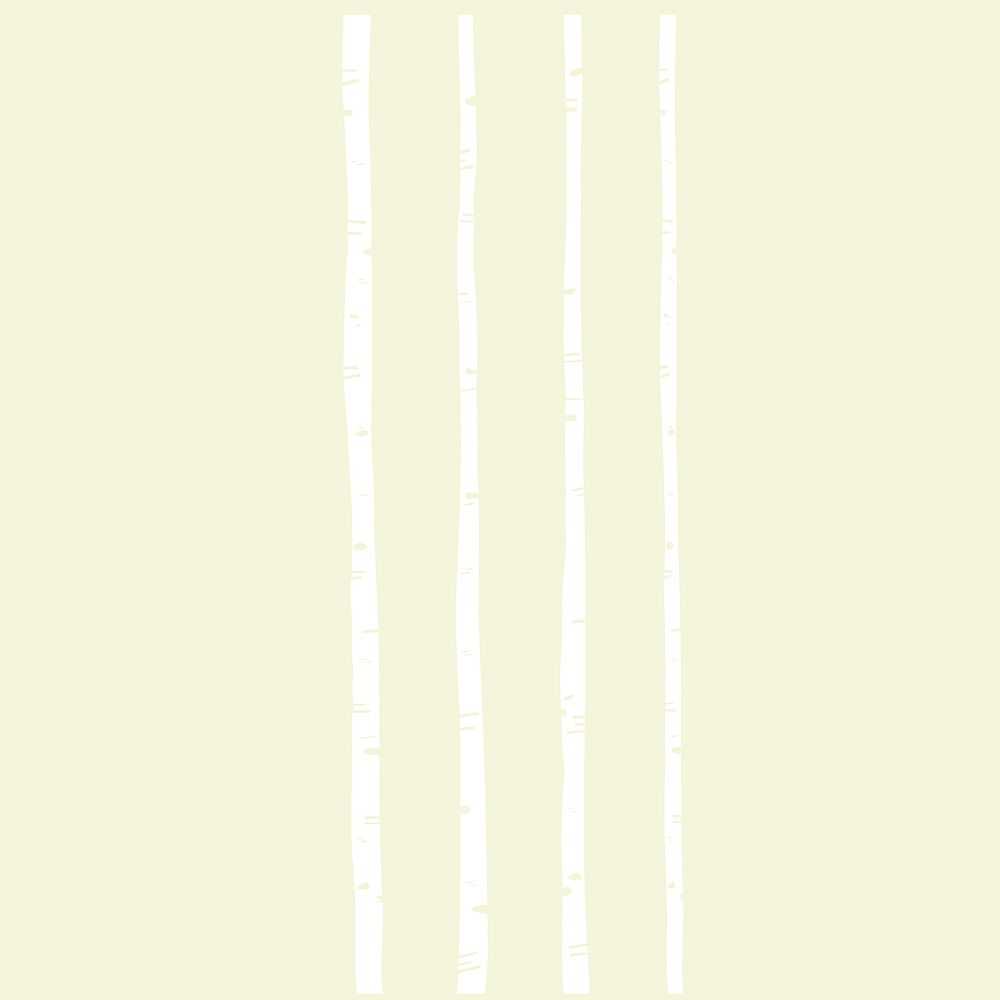 Stics Deco Boulo White Peel and Stick Wall Art, 2 Sheets - 13 Inch. x 39 Inch