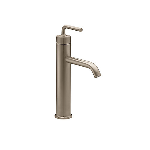 Purist(R) Tall single-handle bathroom sink faucet with straight lever handle