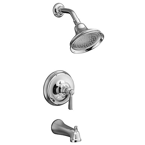 Bancroft Rite-Temp Pressure-Balancing Bath/Shower Faucet in Polished Chrome