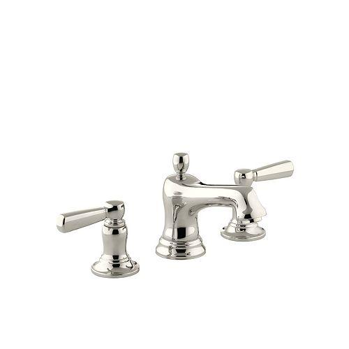 Bancroft(R) widespread bathroom sink faucet with metal lever handles