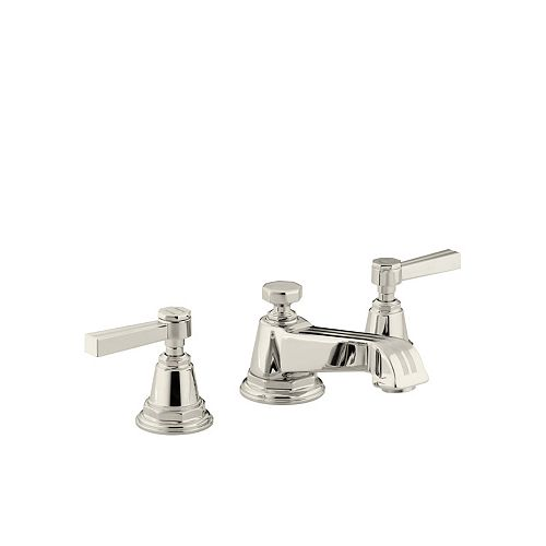 Pinstripe(R) widespread bathroom sink faucet with lever handles