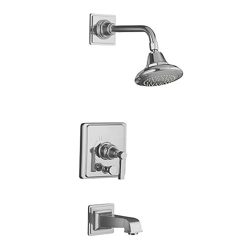 KOHLER Pinstripe(R) Pure Rite-Temp(R) pressure-balancing bath and shower faucet trim with lever handle