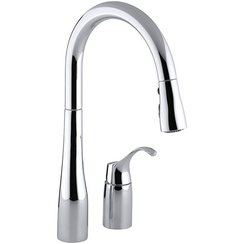 Simplice Pull-Down Kitchen Sink Faucet In Polished Chrome