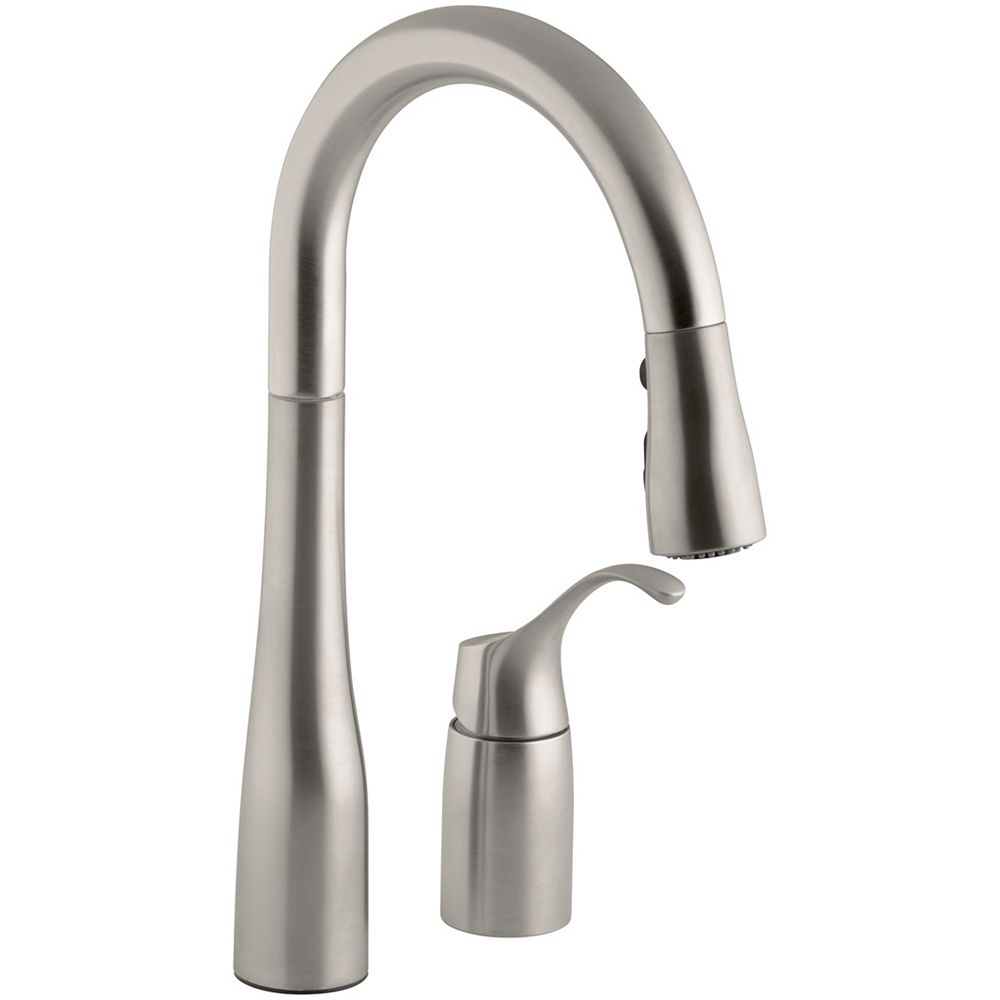 KOHLER Simplice Pull-Down Secondary Sink Faucet In Vibrant Stainless