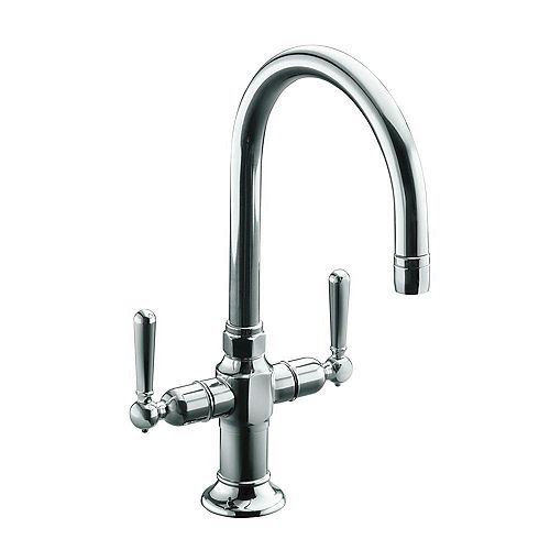 HiRise(TM) single-hole bar sink faucet with lever handles