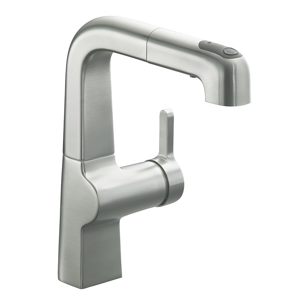 Kohler Evoke R Single Hole Bar Sink Faucet With 8 Pull Out Spout The Home Depot Canada