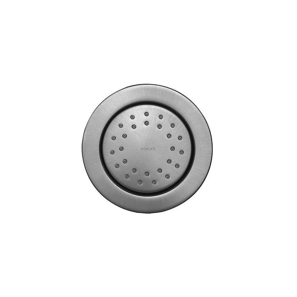 KOHLER WaterTile Round 27-Nozzle Body Spray in Brushed Chrome