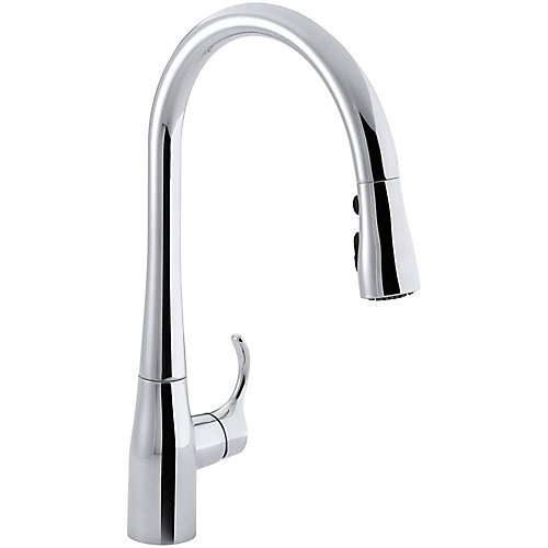 Simplice Single-Hole Pull-Down Kitchen Faucet In Polished Chrome