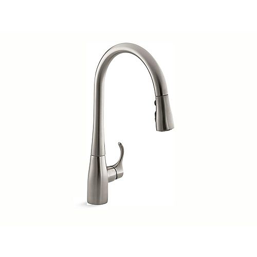 Simplice Single-Hole Pull-Down Kitchen Faucet In Vibrant Stainless