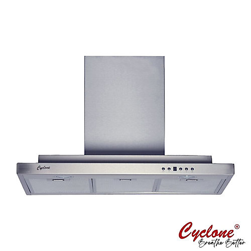 30-inch 550 CFM Double Layer T-Shape Wall-Mounted Range Hood in Stainless Steel