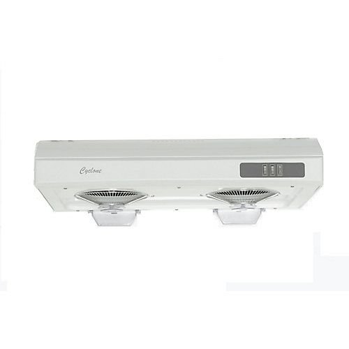 30-inch, 680 CFM Undermount Range Hood with Rectangular Ducting in White