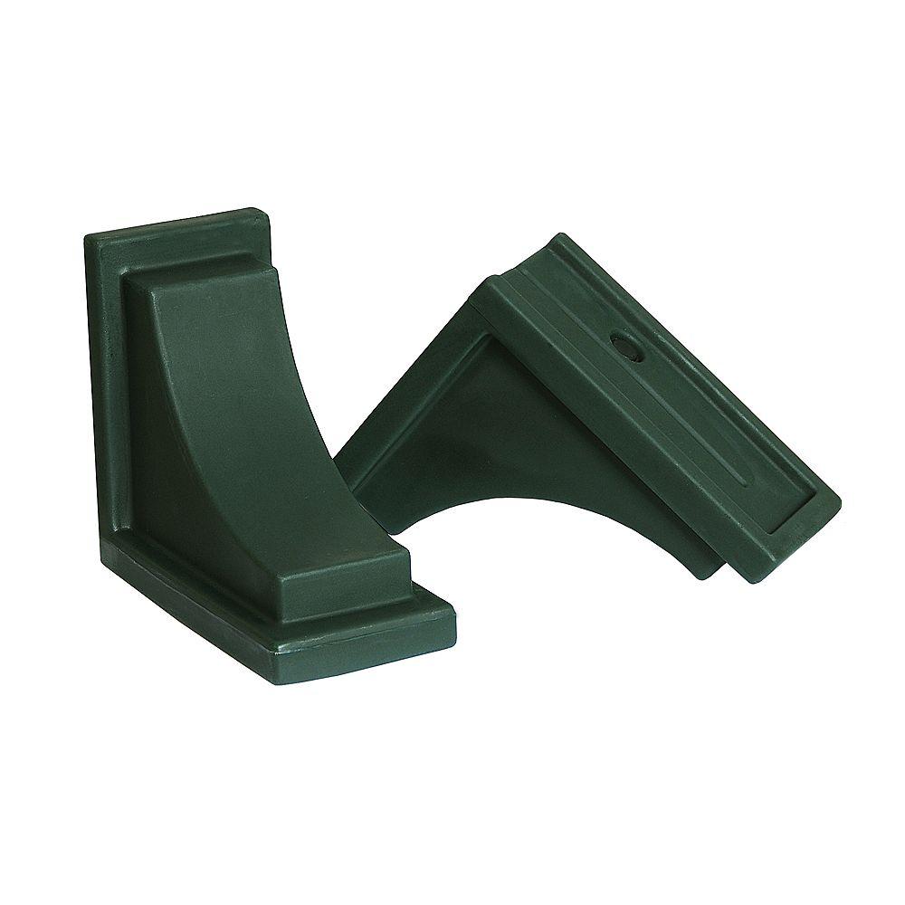 Mayne Nantucket Decorative Brackets - Green (2pk)