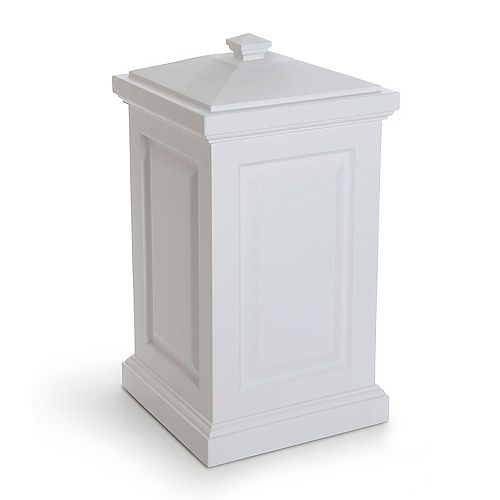 Mayne Berkshire 6 cu. ft. Outdoor Storage Bin in White