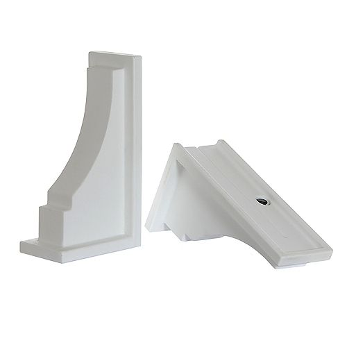 Mayne Fairfield Decorative Supports in White (2-Pack)