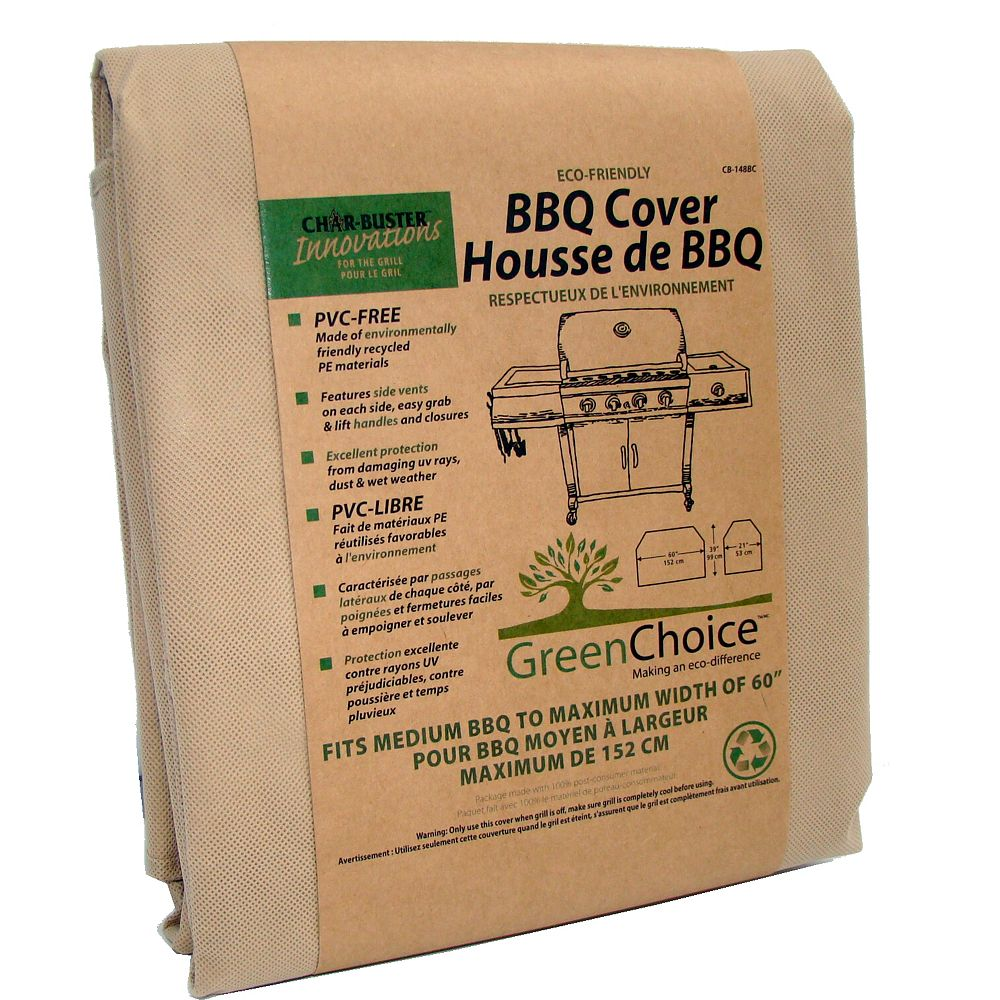 Char-Buster Recycled BBQ Cover, Medium - 60 Inch