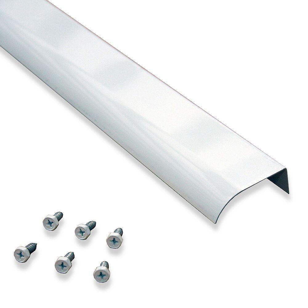 "Rainhandler 2"" Fascia Mounted Drip Edge Extension with Screws, White Colored Aluminum"