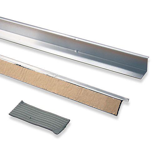 """Doorbrella (2 à 36 """"pièces et Putty Seal), aluminium naturel"""