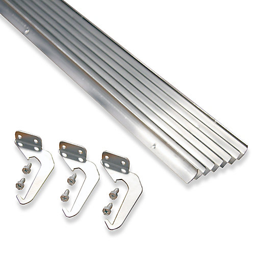 Value Pack of 10-Piece Brackets and Screws, Natural Aluminum