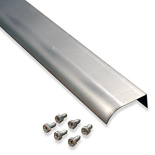 Rallonge de bord d'égouttement de 2 po montée sur fascia avec vis, en aluminium naturel