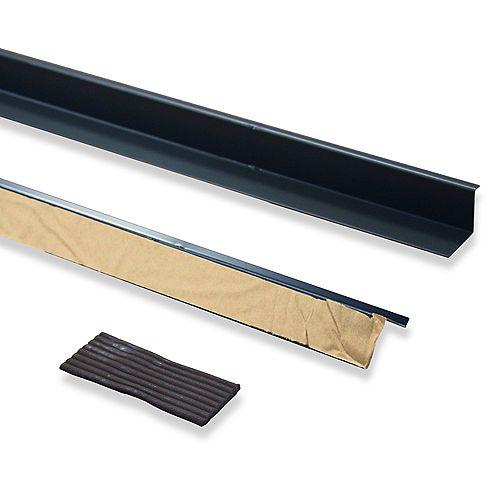 Brise-porte (pièces de 2 à 36 pouces et joint de mastic), aluminium de couleur brune