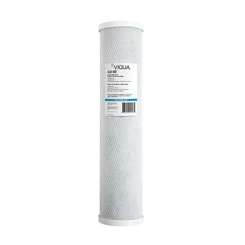 Filtre à charbon de remplacement 4,5 po x 20 po pour système Absolute H2O IHS-10