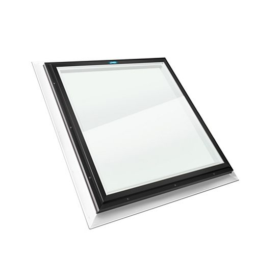 Columbia Skylights 2ft x 2ft Fixed Self Flashing LoE3 Double Glazed Clear Glass Skylight, Black Frame