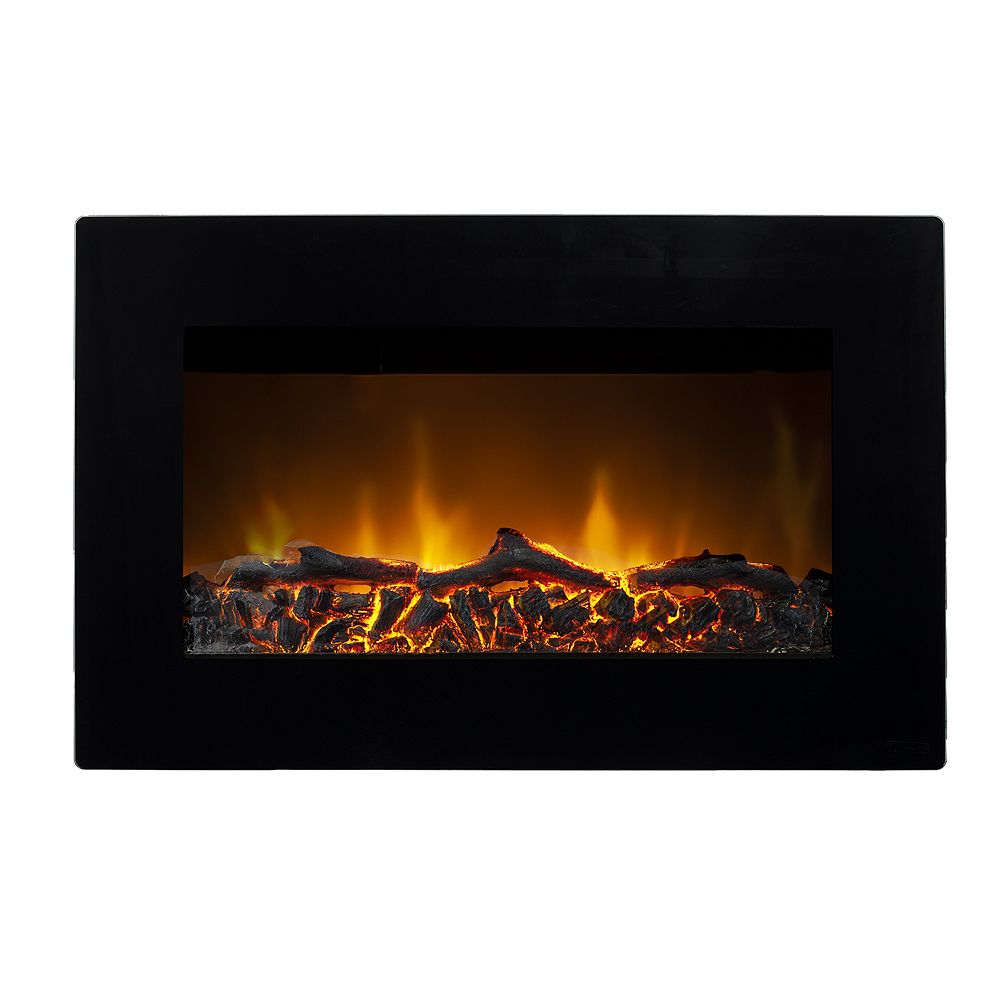 Paramount Tokyo Wall Mounted Electric Fireplace in Black