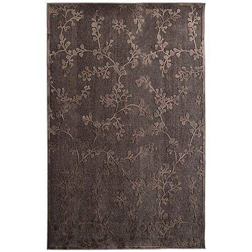 Lanart Rug Grace Brown 4 ft. 2-inch x 6 ft. Rectangular Area Rug