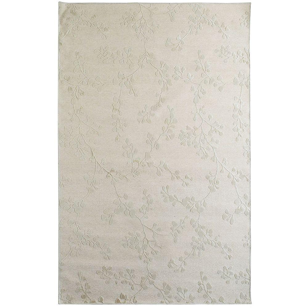 Lanart Rug Grace Off-White 4 ft. 2-inch x 6 ft. Rectangular Area Rug