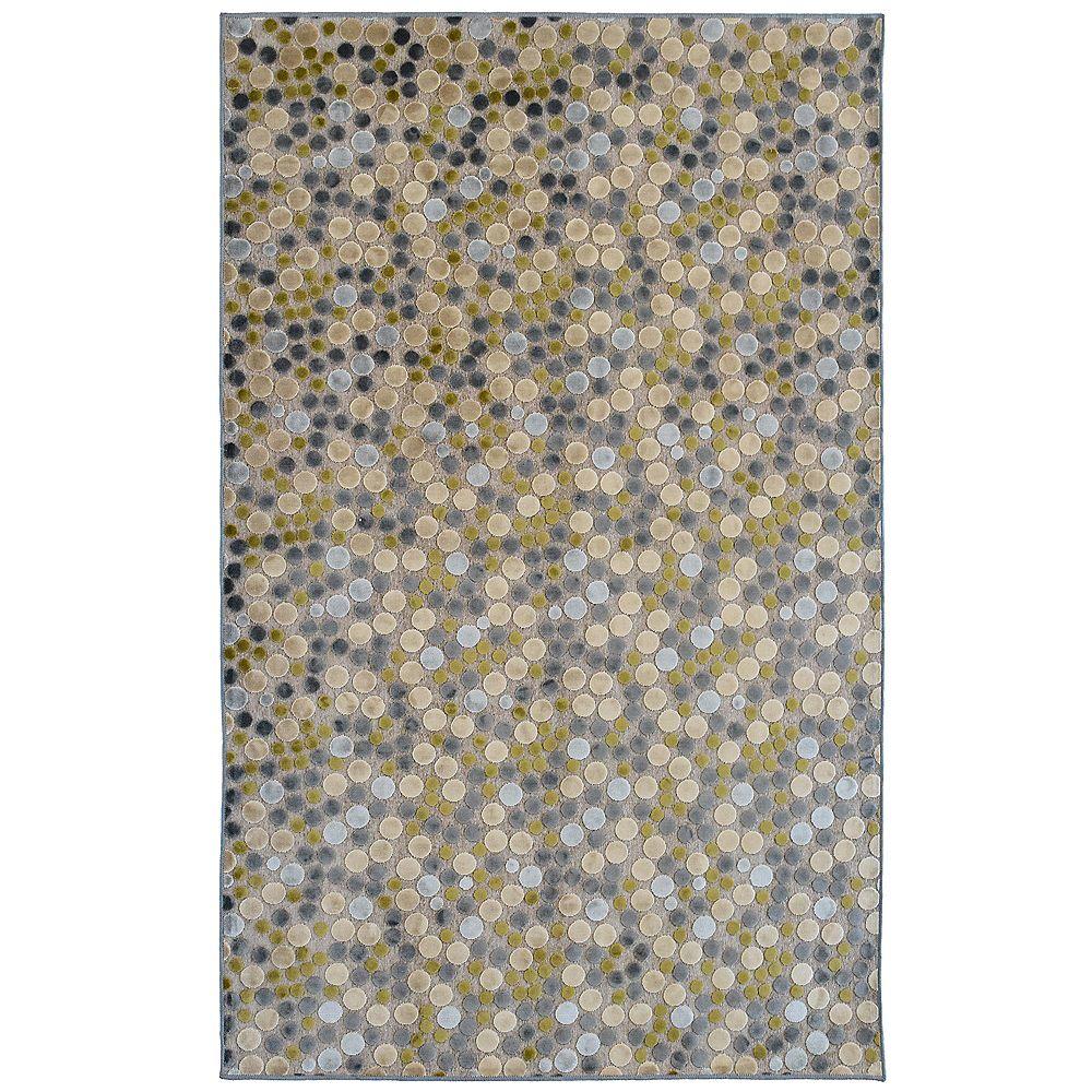 Lanart Rug Effervescence Grey 5 ft. x 7 ft. 6-inch Rectangular Area Rug