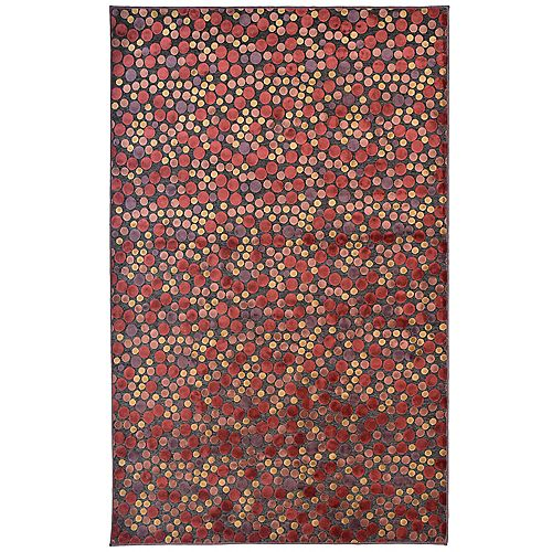 Lanart Rug Autumn Red 4 ft. 2-inch x 6 ft. Rectangular Area Rug