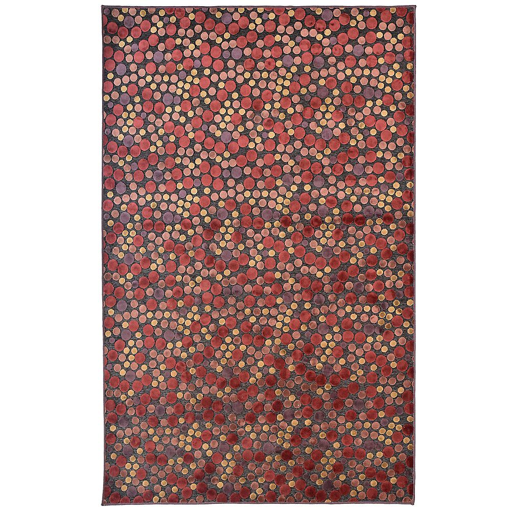 Lanart Rug Autumn Red 5 ft. x 7 ft. 6-inch Rectangular Area Rug