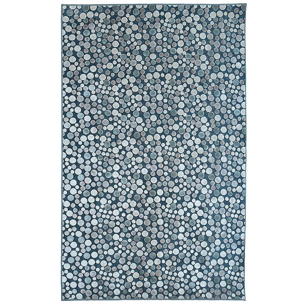 Lanart Rug Ocean Effervescence Blue 4 ft. 2-inch x 6 ft. Rectangular Area Rug