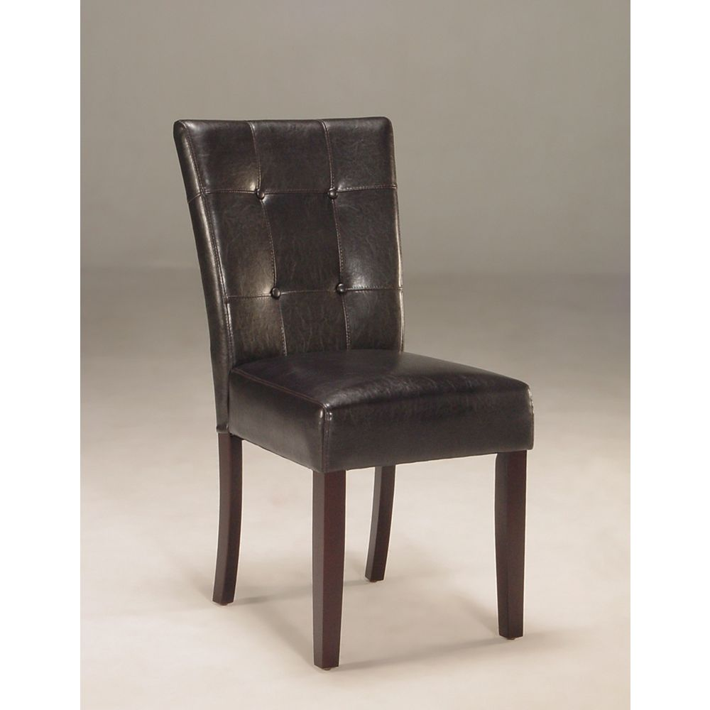 Worldwide Homefurnishings Inc. Oliver Parsons Chair Black (Set of 2)