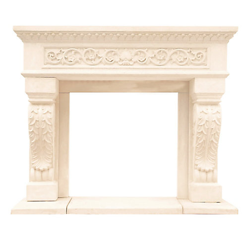 Chateau Series King Henry Cast Stone Mantel