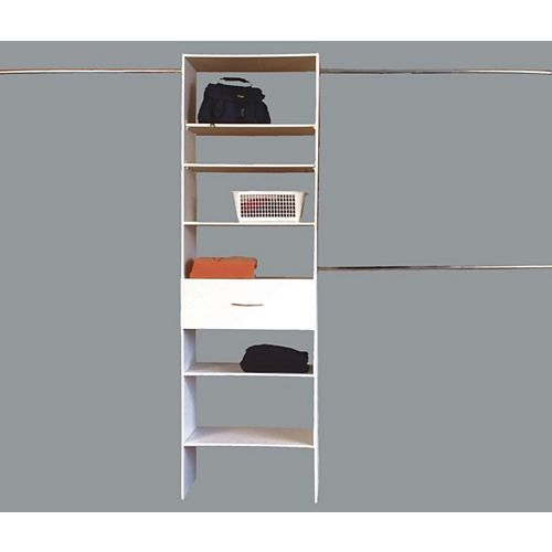 1 Drawer Closet Organizer - White