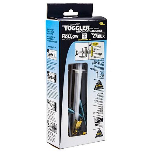 CHEVILLES D'ANCRAGE 3/16PO TOGGLER - 10 PAQUETS