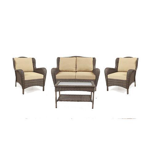 Hampton Bay Casa Mila 4-Piece Deep Seating Set