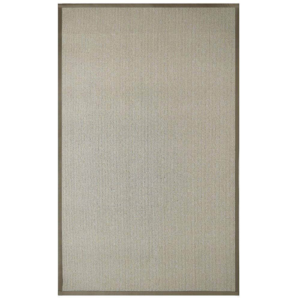 Lanart Rug Carpette d'intérieur, 9 pi x 10 pi, style contemporain, rectangulaire, sisal, havane