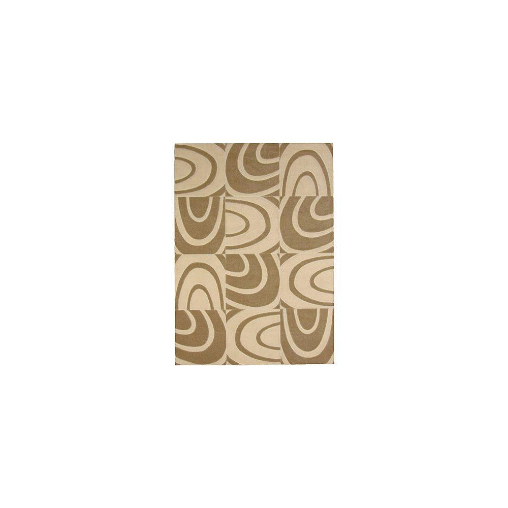 Lanart Rug Carpette d'intérieur, 9 pi x 10 pi, style contemporain, rectangulaire, havane Windows