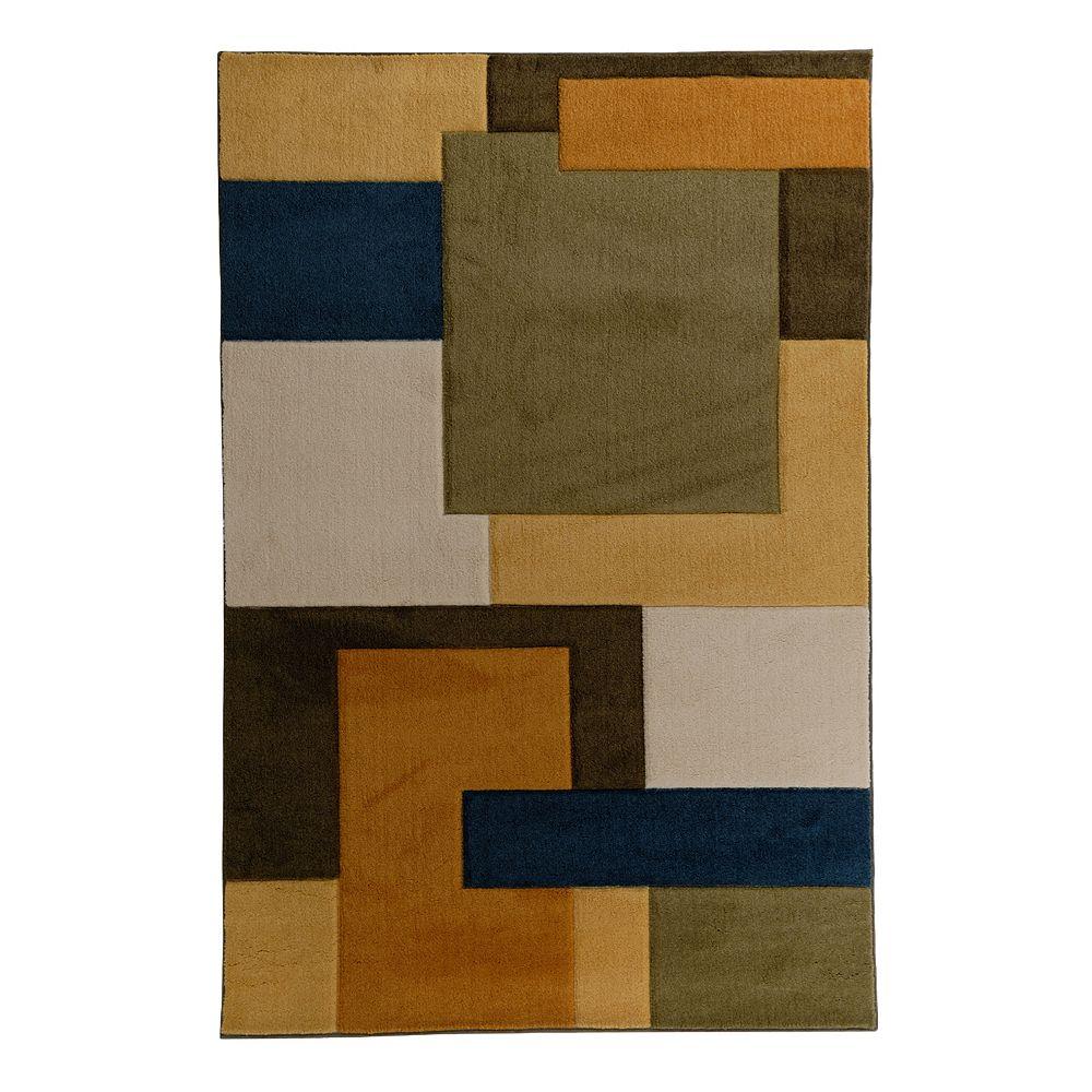 Lanart Rug Carpette, 5 pi x 7 pi, rectangulaire, multicolore Blond Java