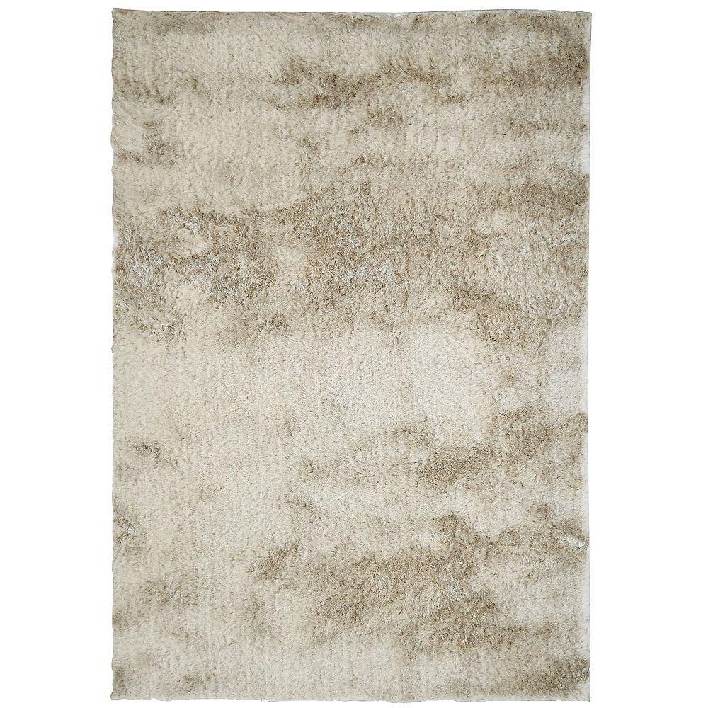 Lanart Rug Carpette d'intérieur, 6 pi x 8 pi, à poils longs, rectangulaire, havane Silky
