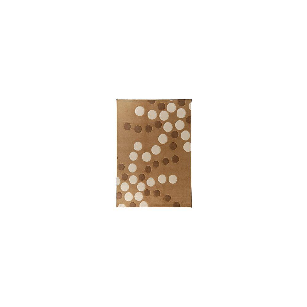 Lanart Rug Carpette d'intérieur, 9 pi x 12 pi, rectangulaire, havane Coolio