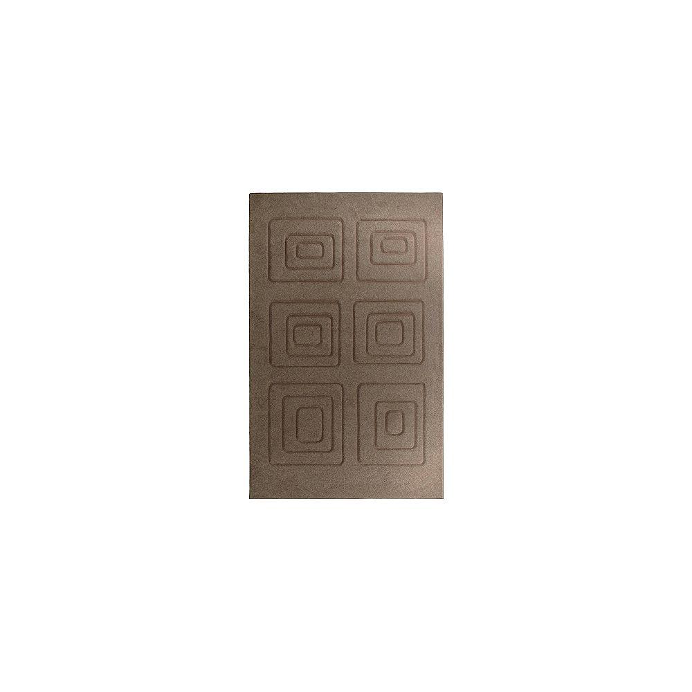 Lanart Rug Carpette d'intérieur, 5 pi x 8 pi, rectangulaire, brun Cosmopolitain