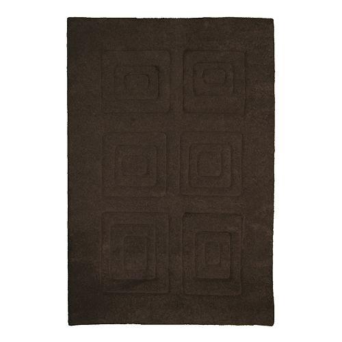 Lanart Rug Cosmopolitain Brown 4 ft. x 6 ft. Indoor Rectangular Area Rug