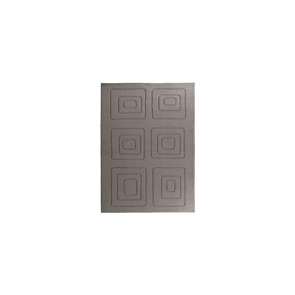 Lanart Rug Carpette d'intérieur, 9 pi x 10 pi, rectangulaire, brun Cosmopolitain