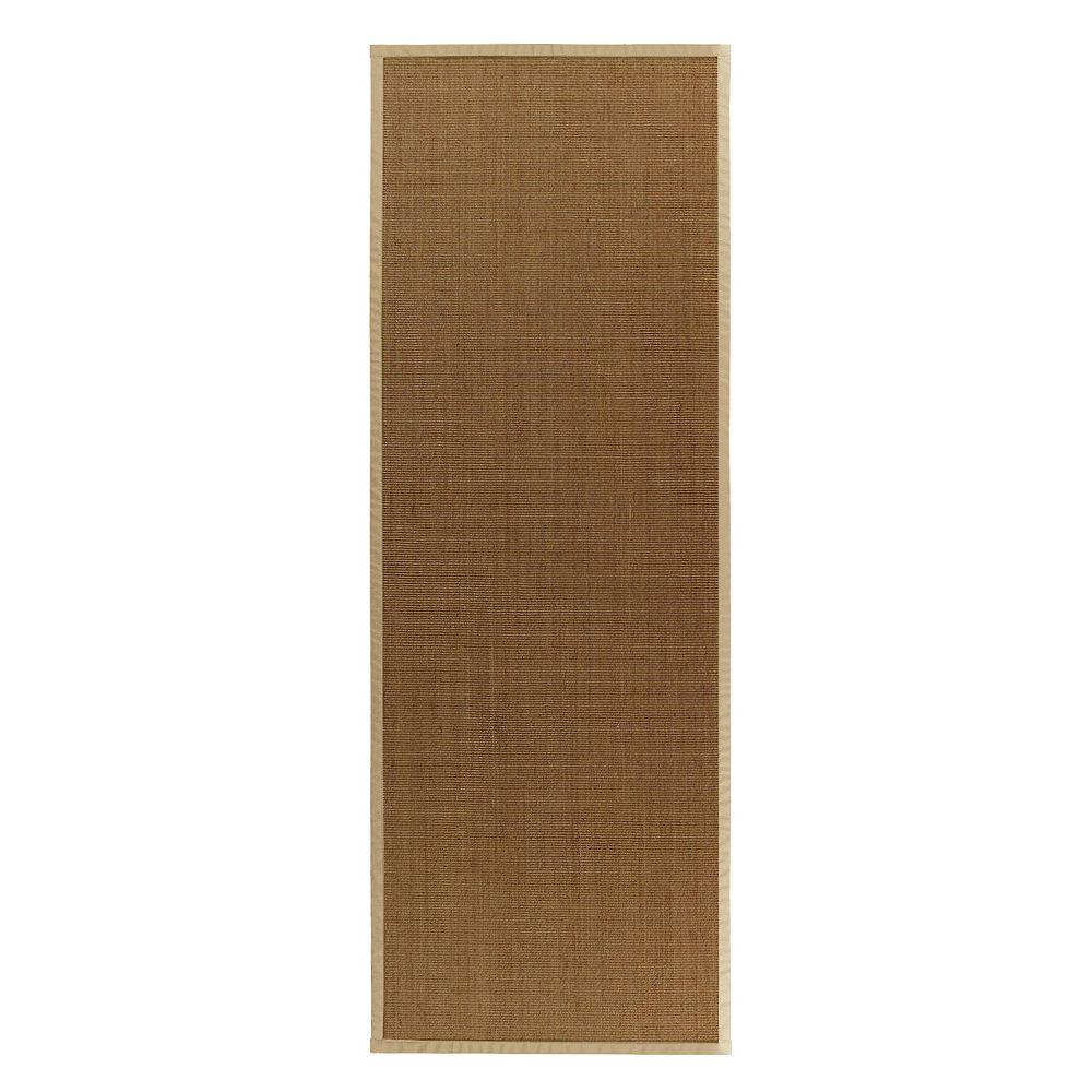 Lanart Rug Carpette d'intérieur, 2 pi. 6 po. x 8 pi. tissage texturé, rectangulaire, sisal naturel, beige